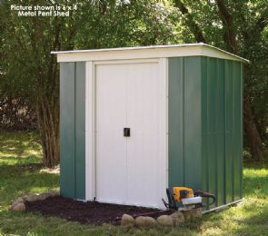 Metal Pent Shed with floor 8 x 4